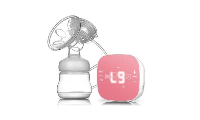 BPA Free Portable Electric Breast Pump , Electric Baby Pump With Feeding Bottle